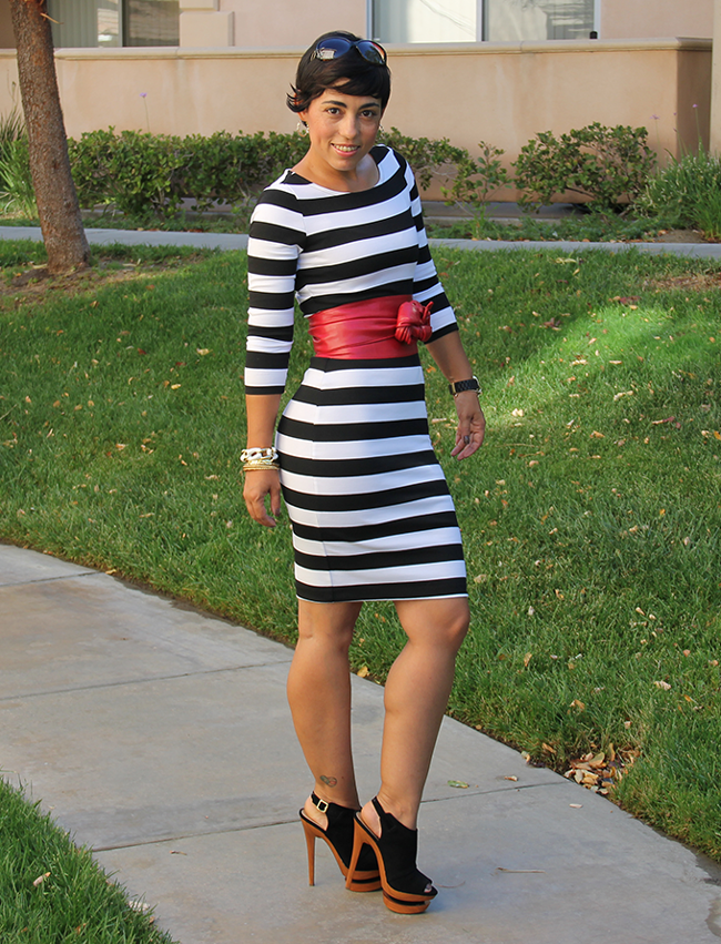 Fabric Bold Striped Knit Here
