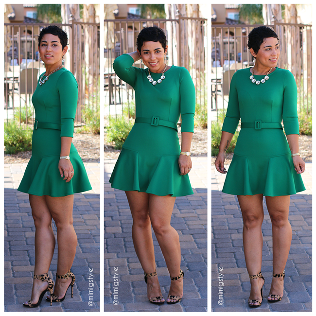 diy green dress