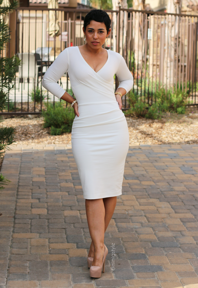 DIY Winter White Dress   Pattern Review - Mimi G Style