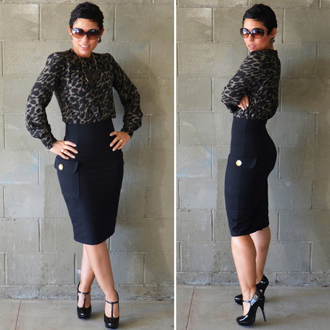 HIGH WAIST PENCIL SKIRT | Mimi G Style