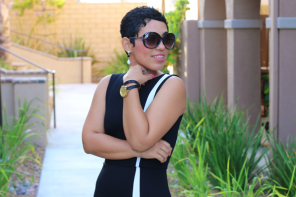 DIY Black & White Sheath