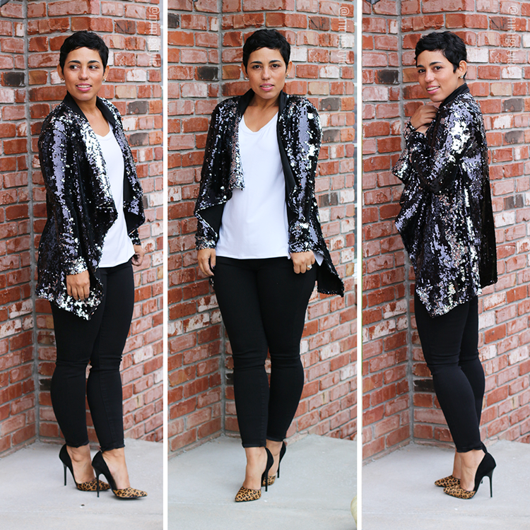 Sequin Cardi Tutorial: HERE / Shoes: Steve Madden HERE / Jeans ...