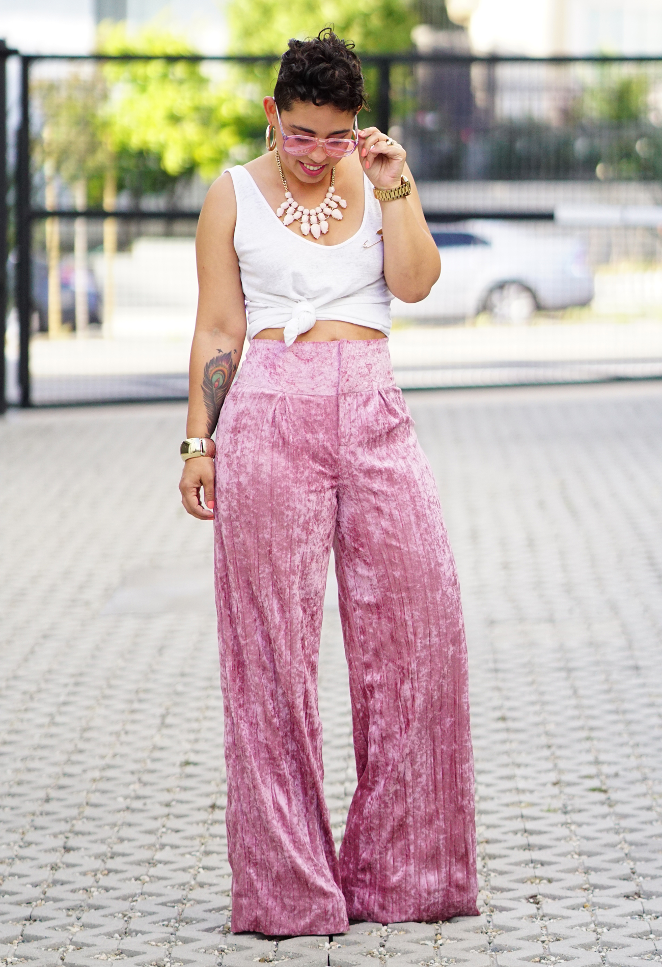 Diy Crushed Velvet Wide Leg Pants Mimi G Style
