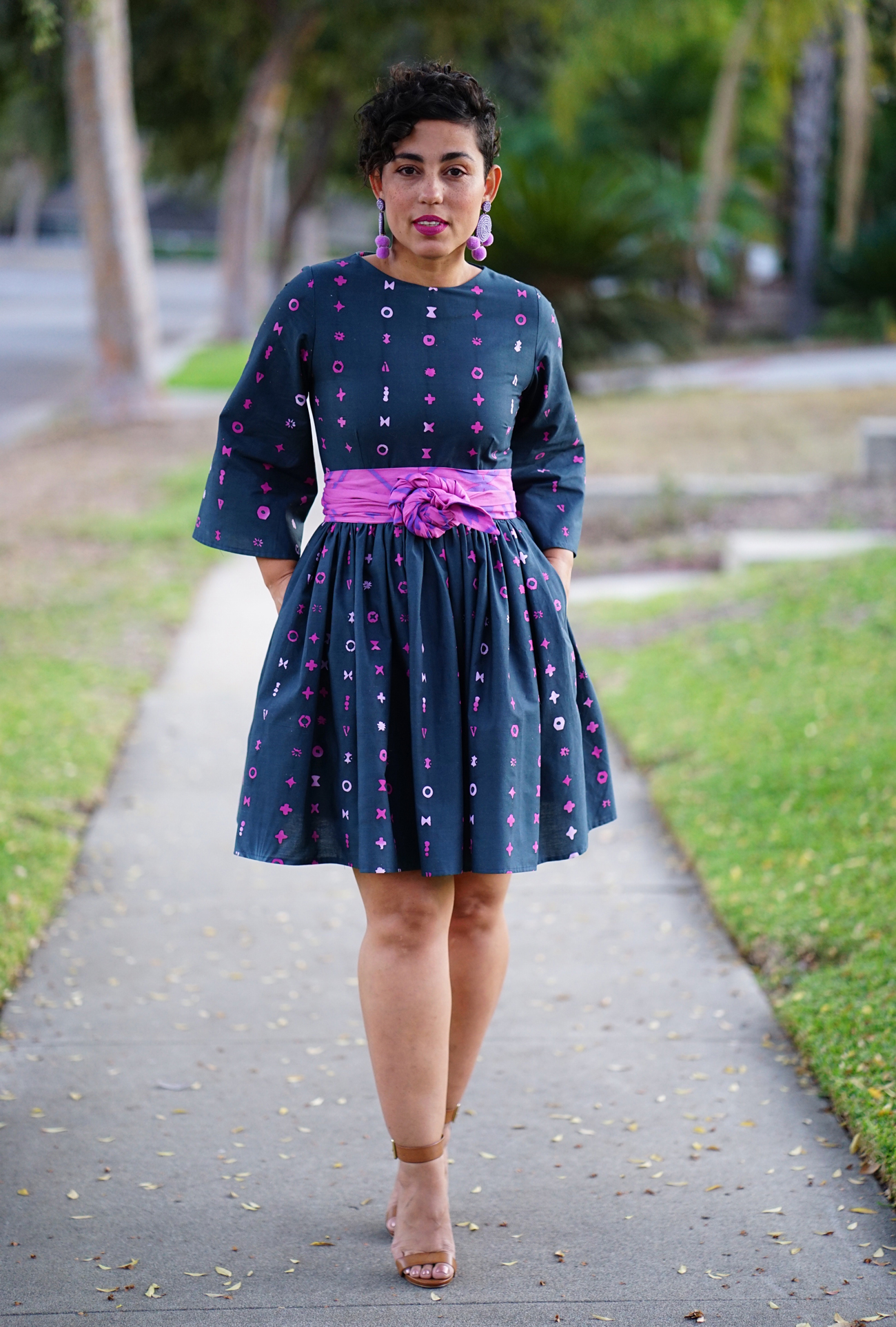 New Pdf Pattern Of Fit And Flare Dress With Obi Belt