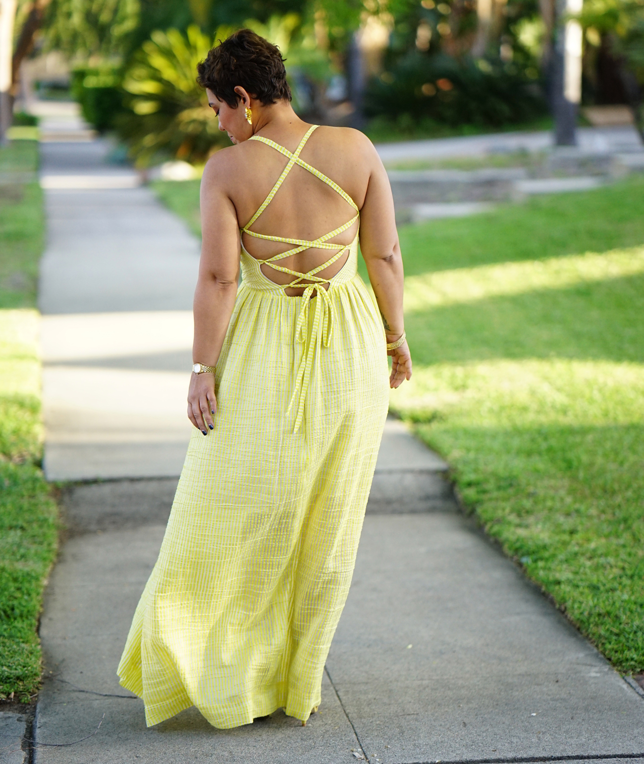 Diy Yellow Silk Maxi Dress Using Simplicity 8635 Mimi G