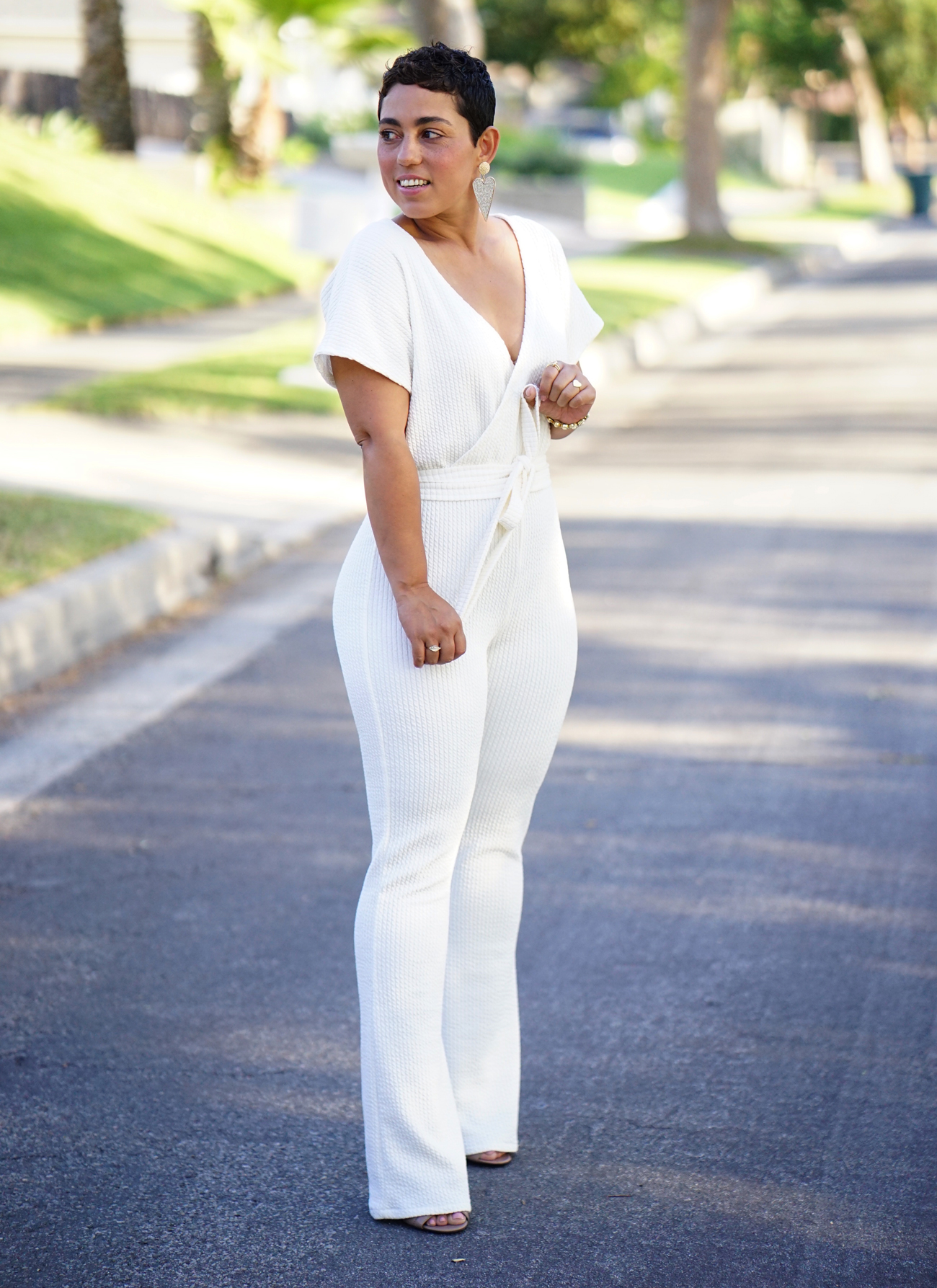 Diy White Cable Knit Jumpsuit Using New Look 6554 Mimi G