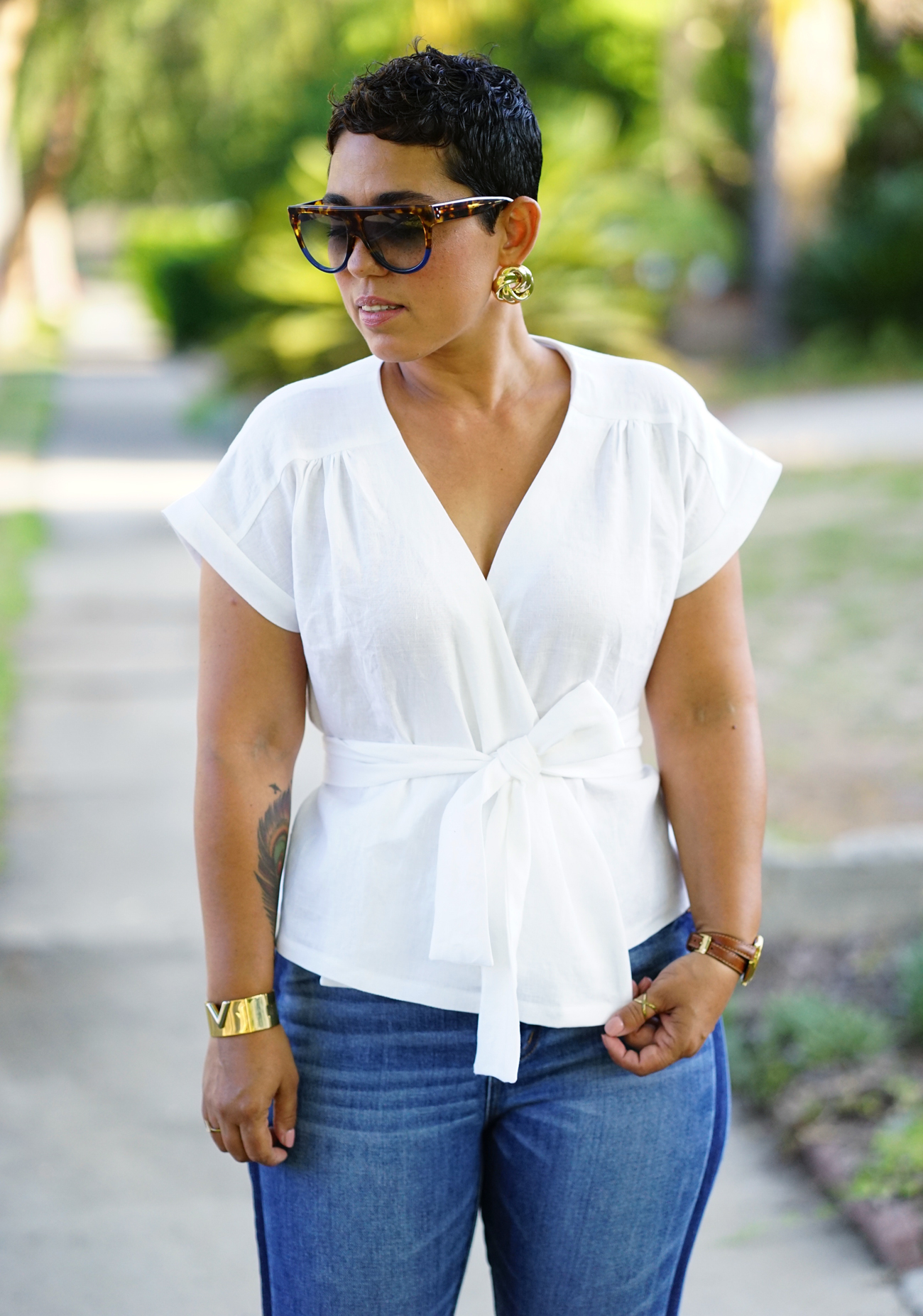 Diy Linen Wrap Top Using New Look 6560 Mimi G Style