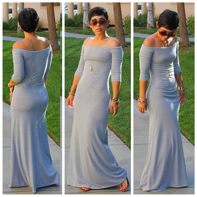 00228c5f24 DIY Heather Grey Maxi | Mimi G Style