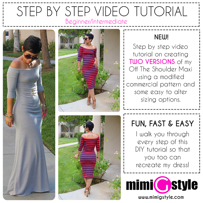 c51512424848 NEW TUTORIAL!!! Off The Shoulder Maxi | Mimi G Style