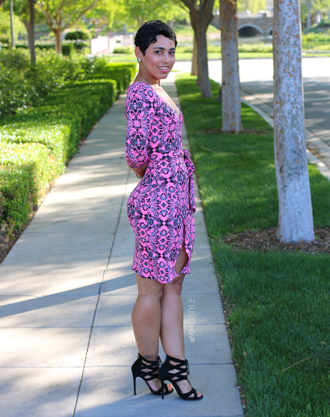 Hot Pink DIY Dress And Steve Madden Heels
