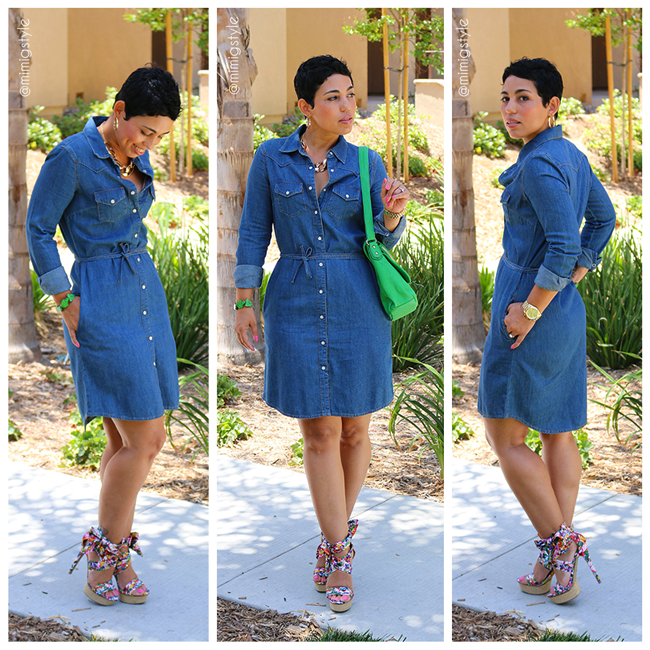 Mimi G Denim Shirt Dress
