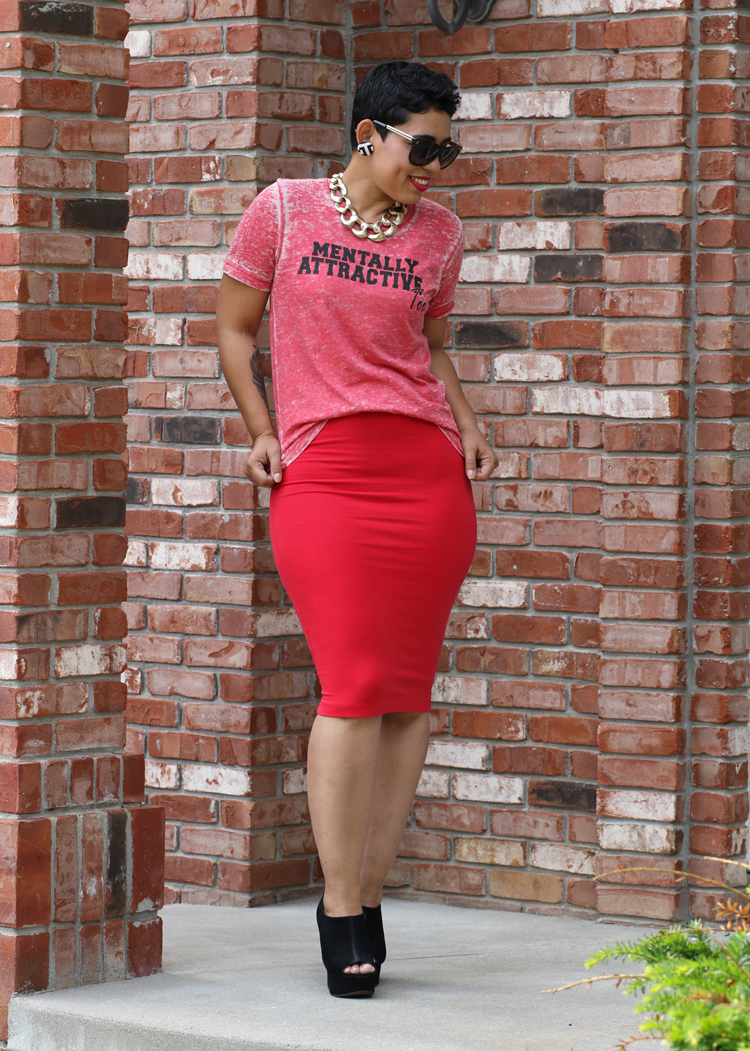 Diy Pencil Skirt Mentally Attractive Tee Mimi G Style