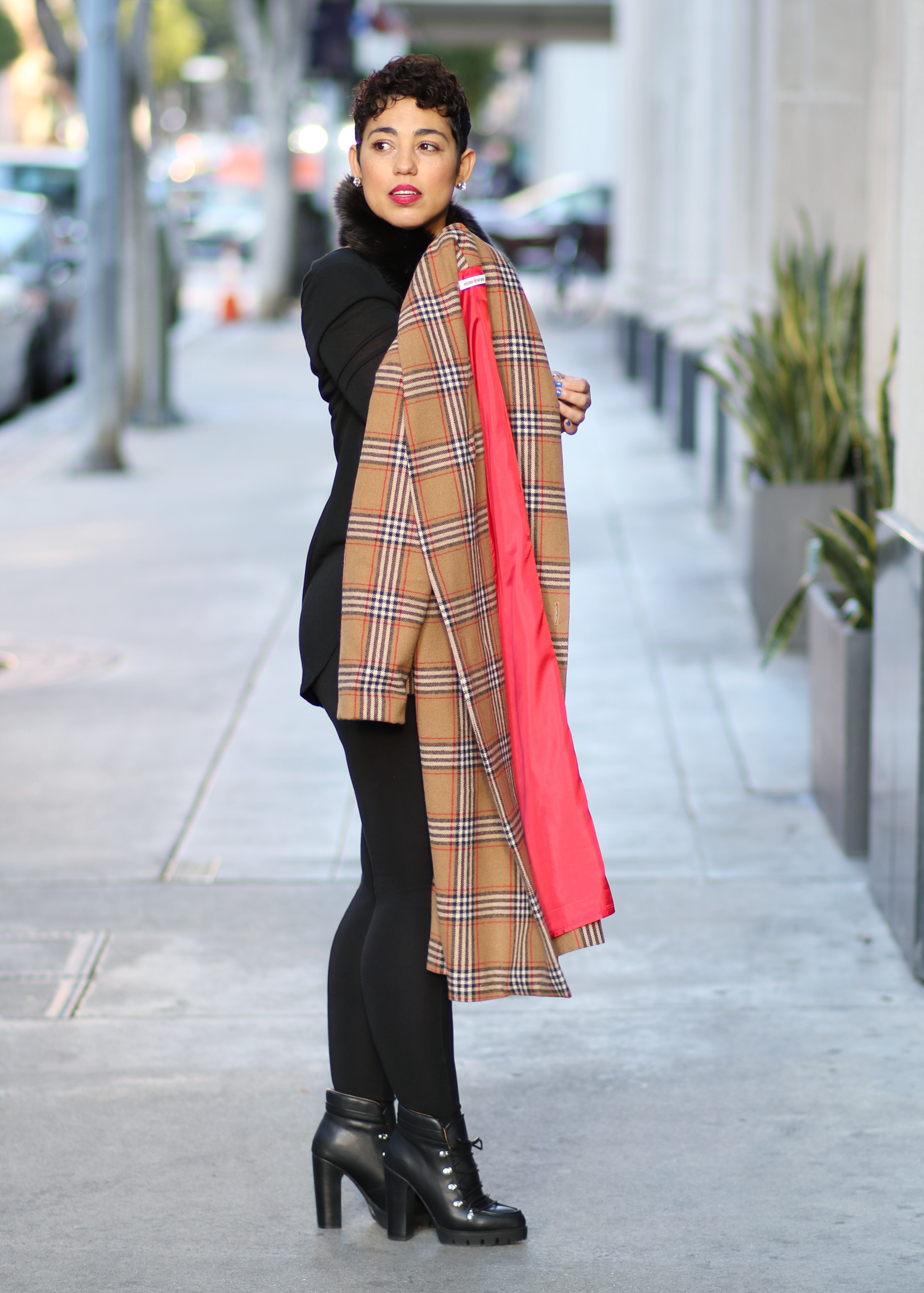 PLAID-COAT
