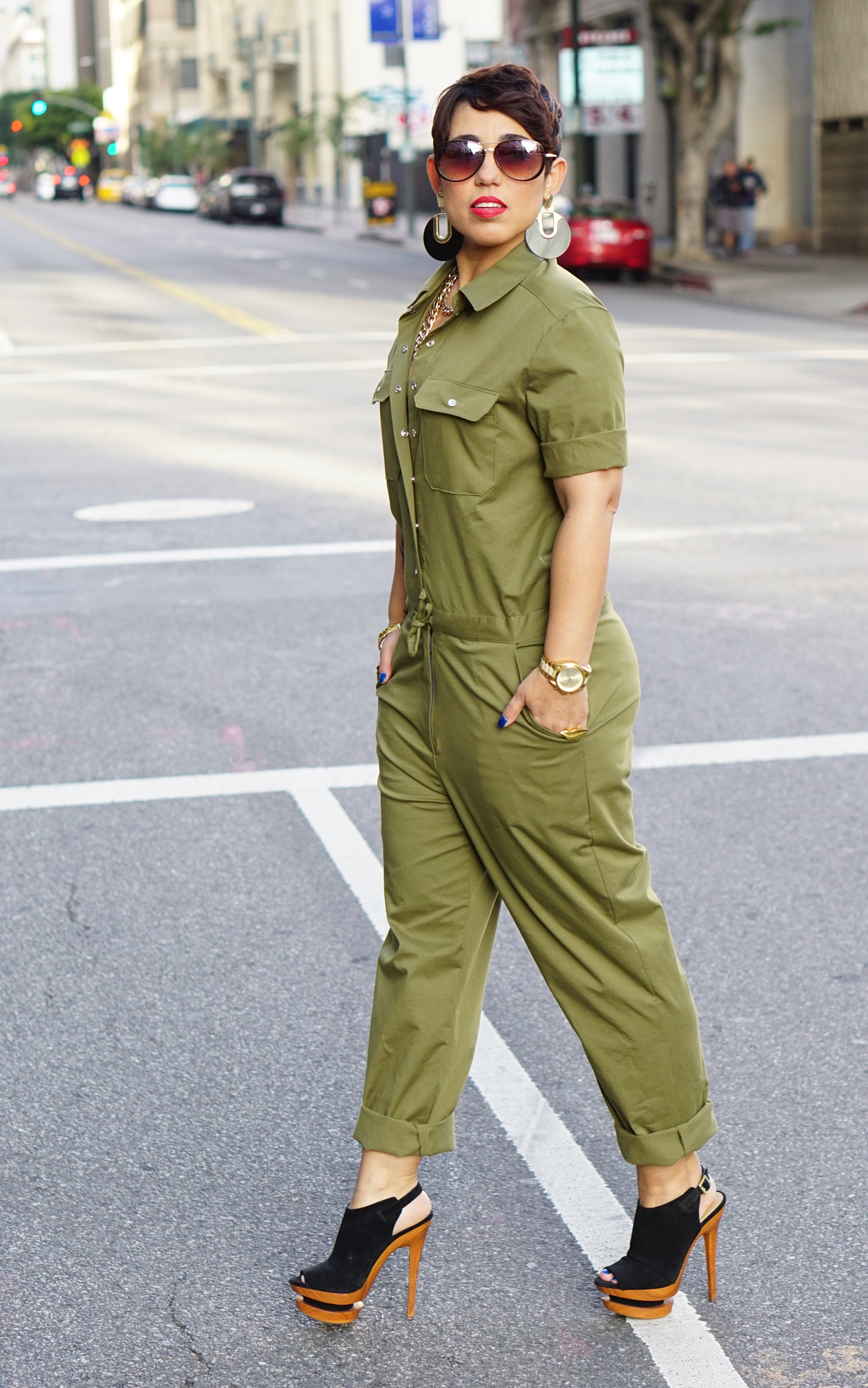 e6be853676a4 DIY Army Green Jumpsuit + Simplicity Pattern Giveaway!