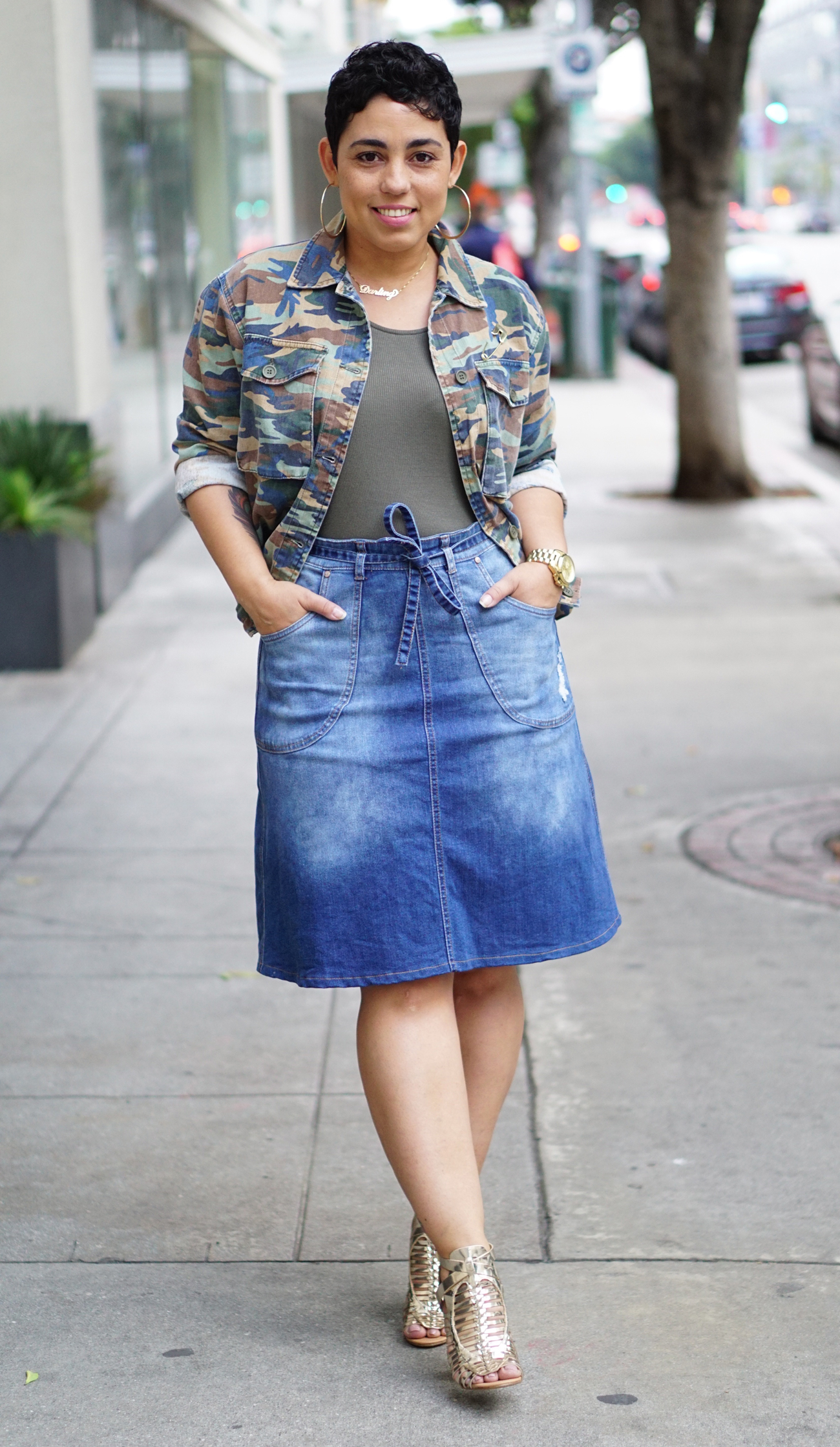 denim skirt two