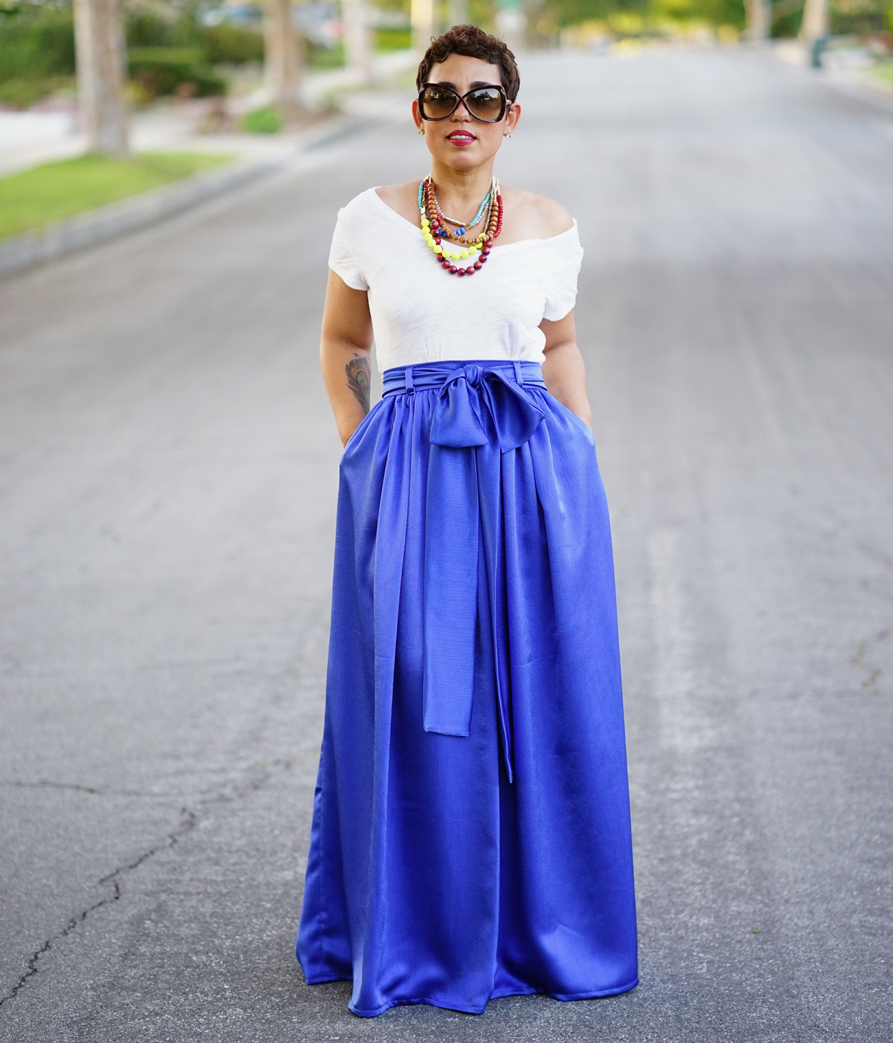 Diy Maxi Skirt With Pockets Dacc