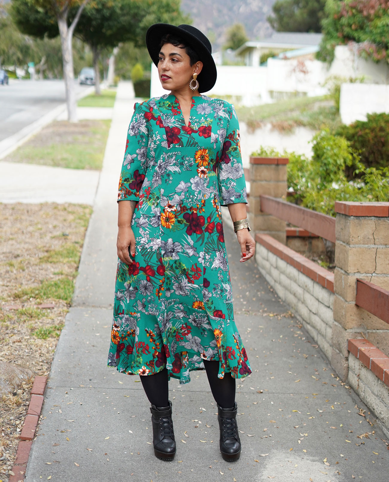 Diy Green Floral Maxi Dress Using Mccall 7804 Mimi G Style